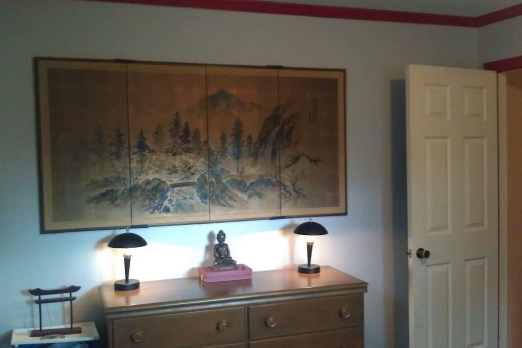 Beautiful Asian print is a family heirloom.