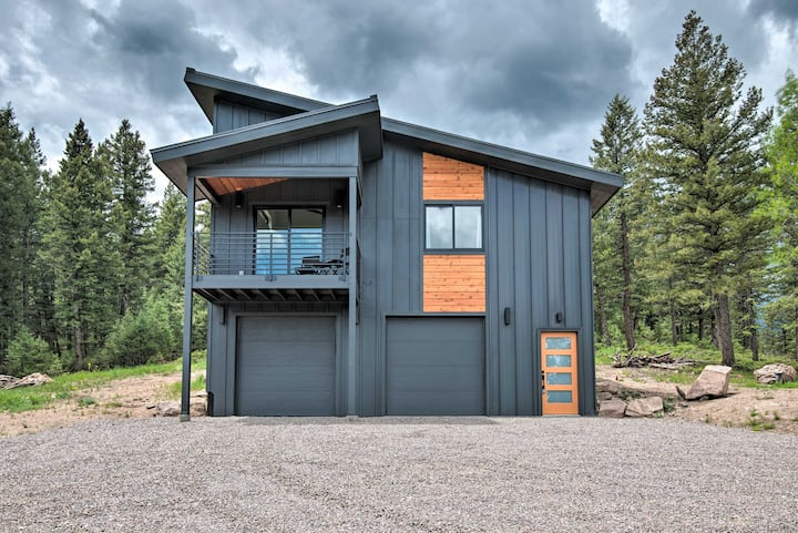 Modern Evergreen Cabin on 35 Acres w/ Views!