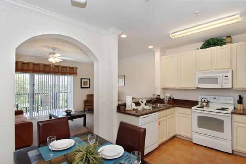 Spacious Kitchen/Dinning/Living area.