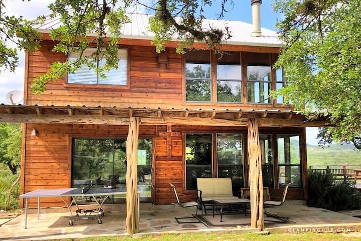 Rockin B Ranch | Bluff House | Boerne TX | Hot Tub