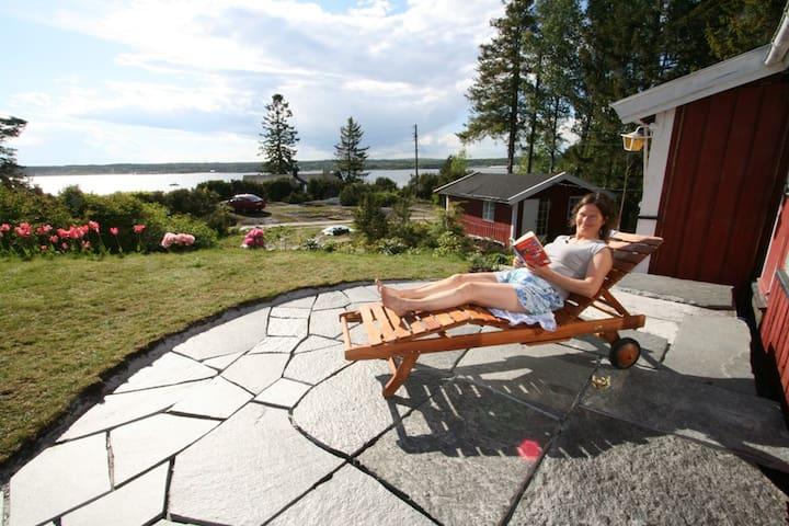 Sommersted ved sjøen, båtplass - Råde - Zomerhuis/Cottage