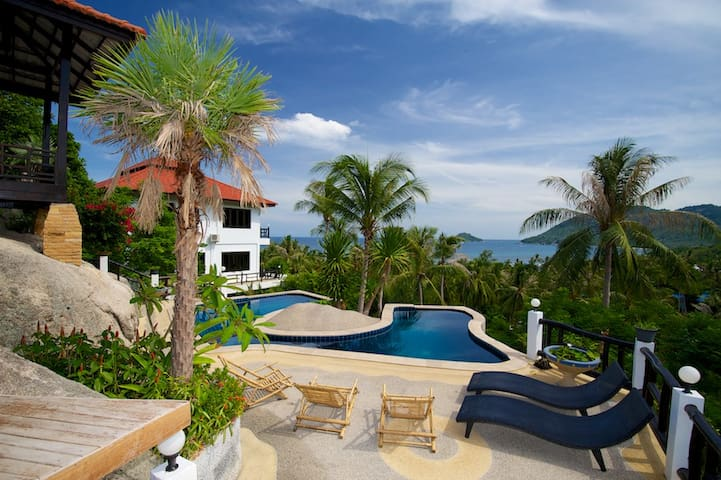 KohTao Oceanview, Fam Apt #2, 5 bed - Ko Tao - House