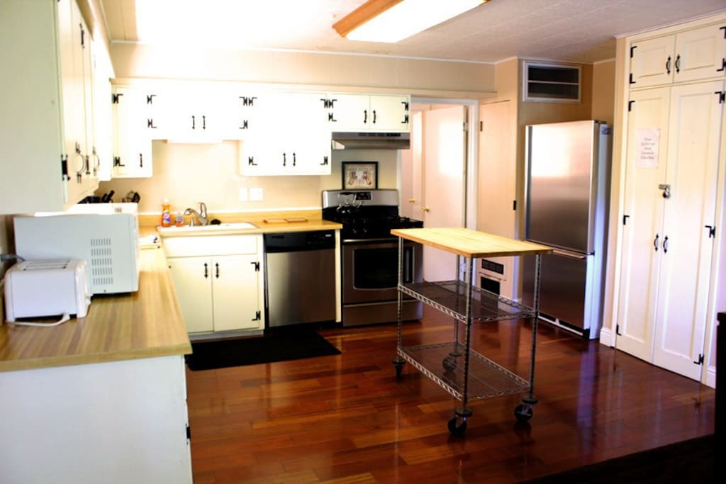 Large Kitchen with wrap around counter space.