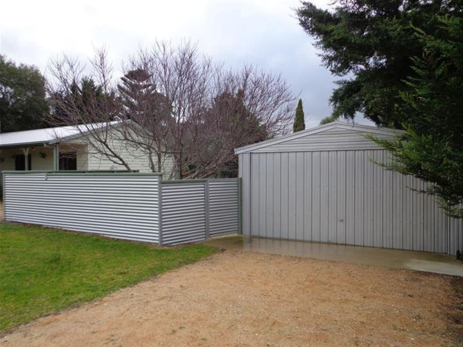 Double garage and fenced back yard