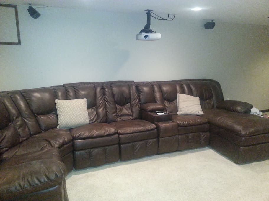 This over-sized sectional is extremely comfortable and just right for relaxing after a hard day.