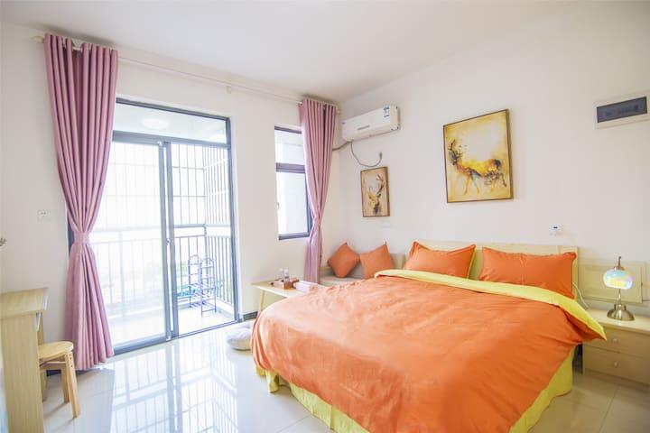 光谷民大南湖边 橙色高端配置可做饭整套公寓 - Wuhan - Appartamento