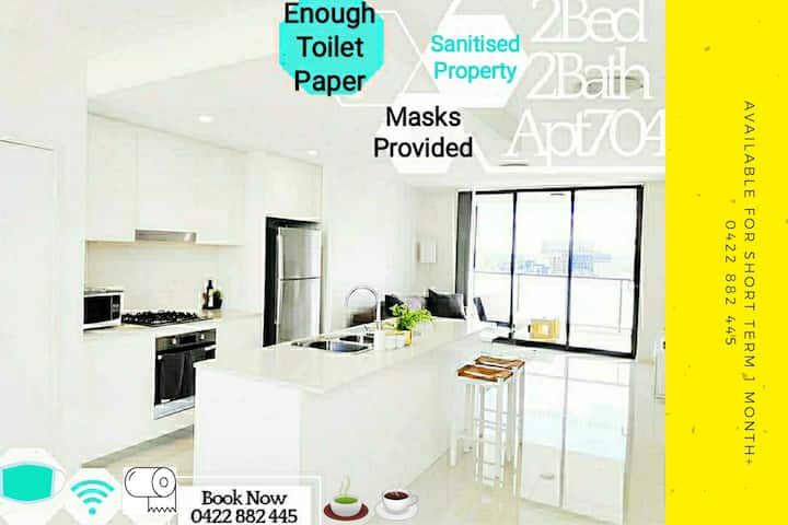 Liverpool中心2房2卫高雅☑️消毒公寓☑️提供口罩😷!提供机场接送+私人旅游