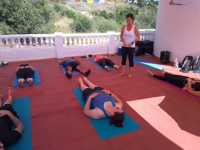 Pilates anyone? We have classes like this every week. You can join in - just let us know.