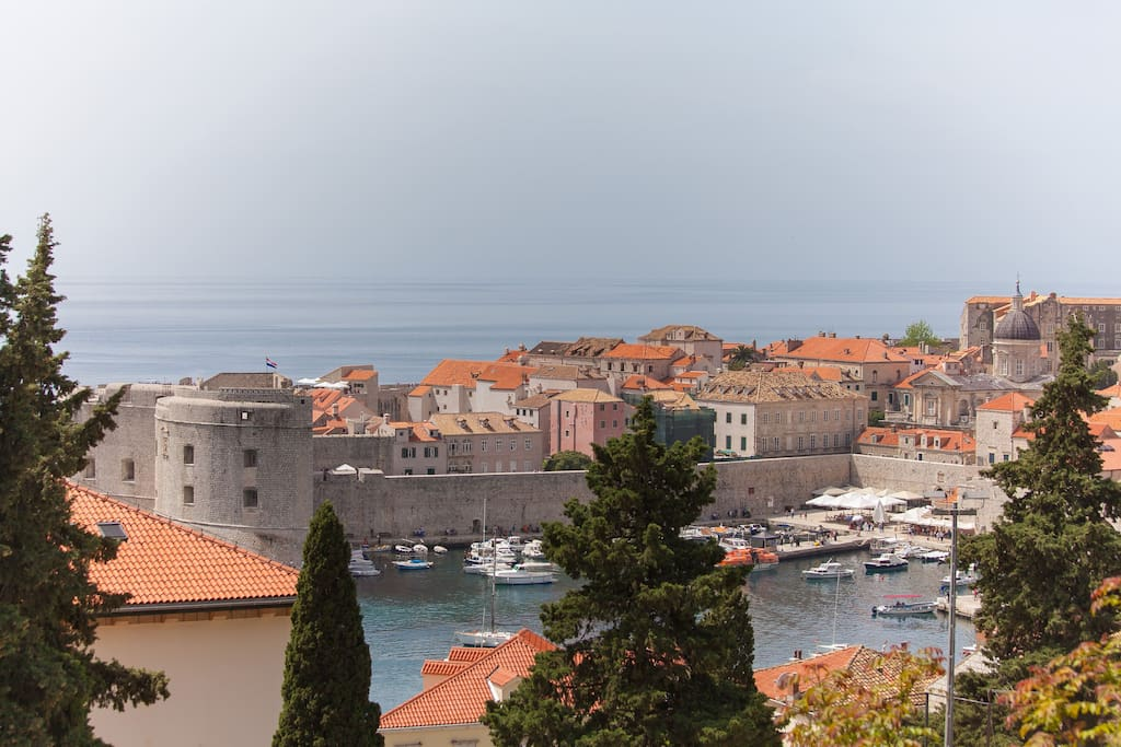 Dubrovnik's old-town, just a 2 minute walk away