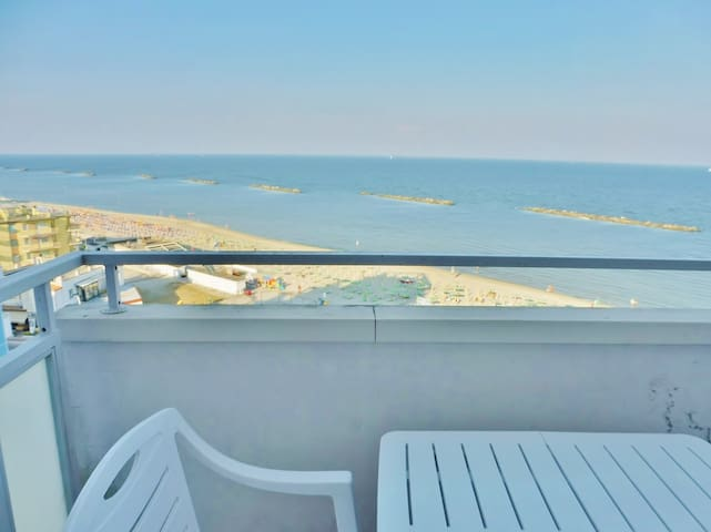 Spacious 3 room apartment with sea view balcony.