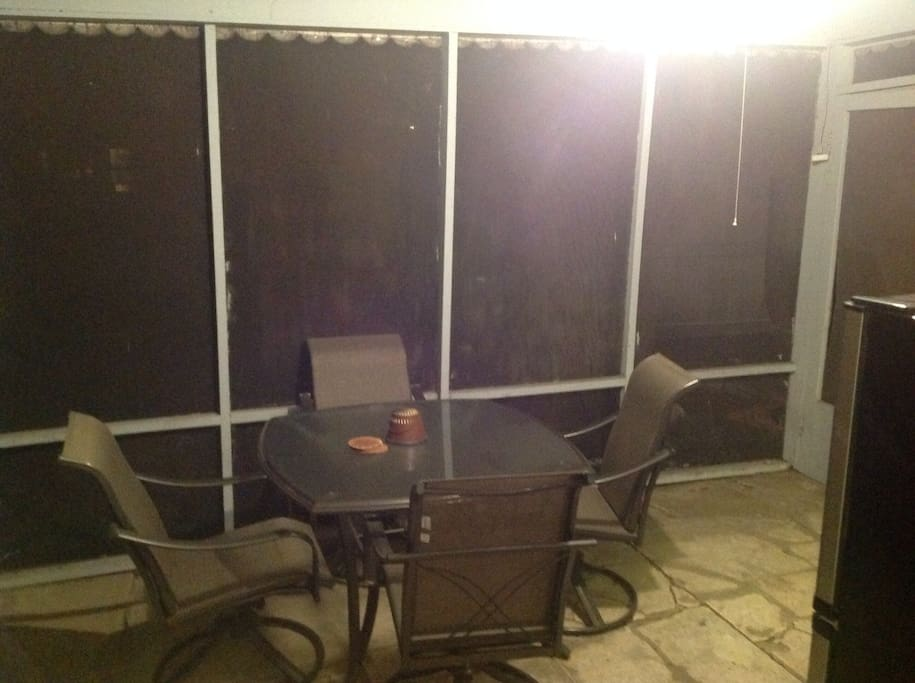Screened in back patio