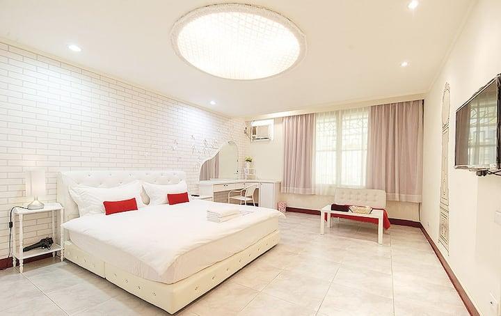 White Double Room