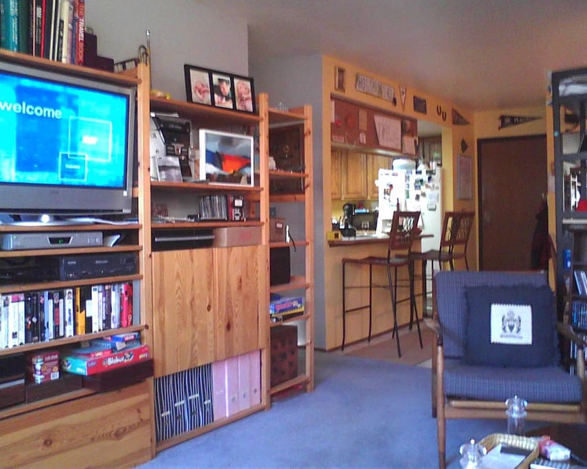 Shared use of kitchen, dining area, and living room.