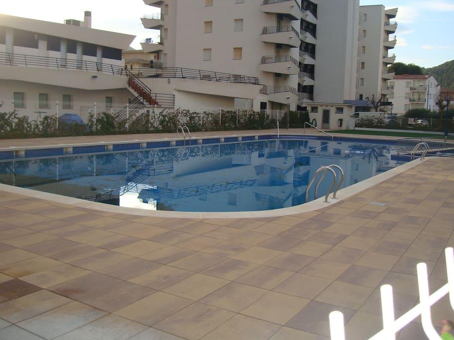 exterior community swimming pool