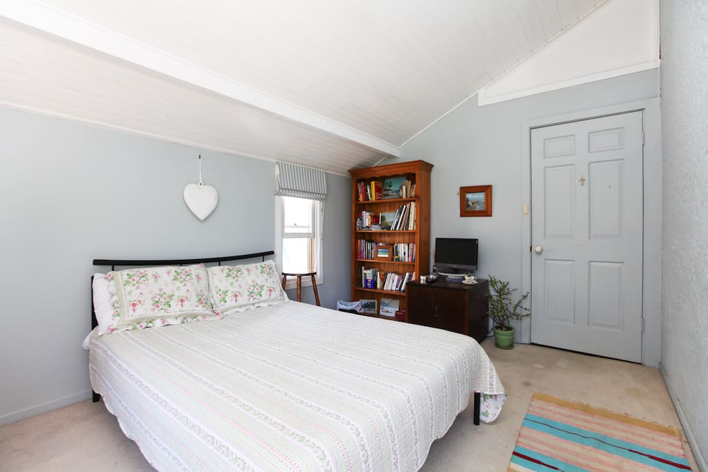Comfortable Double Bed, TV/DVD Player, Books.