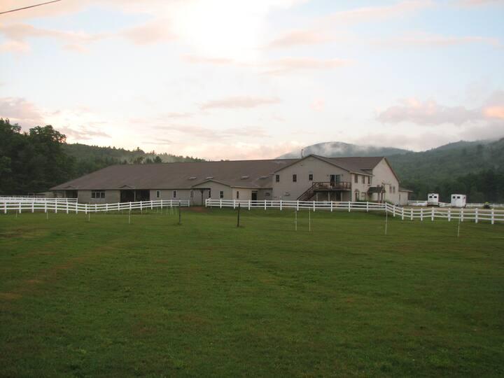 White Mountains-river valley farm