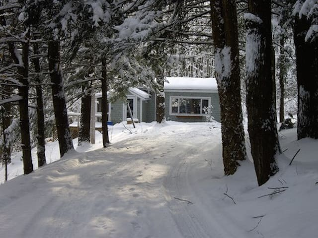 Cottage during winter Le pavillon en hiver