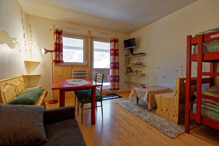 Appartement au pied des pistes de ski alpin
