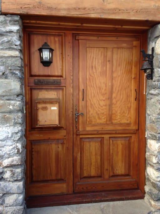 Porte d'entrée du chalet Chamoisette