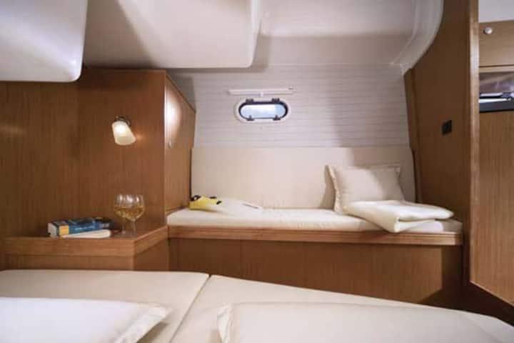Dormir sur un bateau