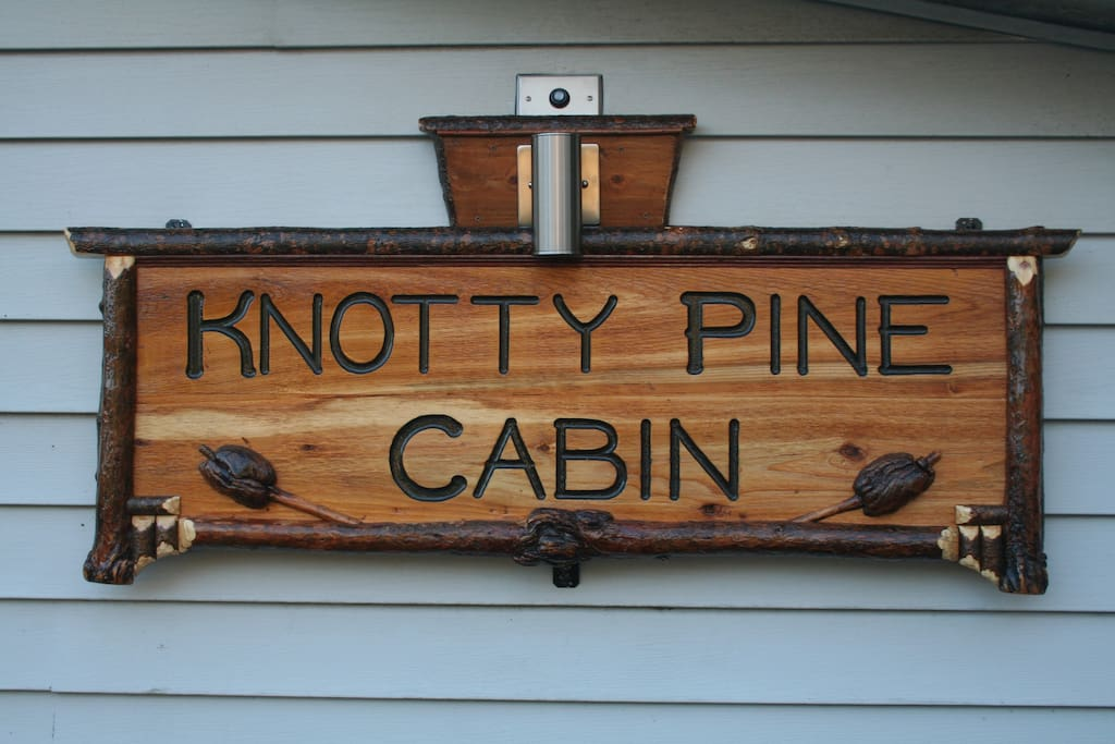 Welcome to the knotty pine cabin!