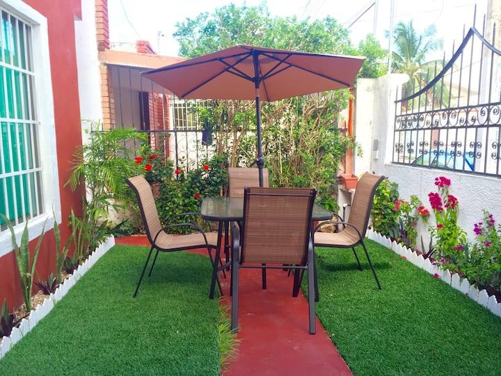 Luxury garden villa near the beach