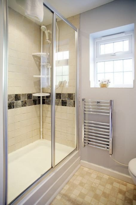 Compact shower room.