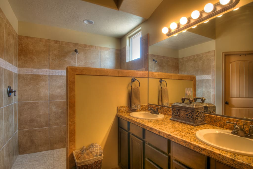Master Suite with walk in Shower