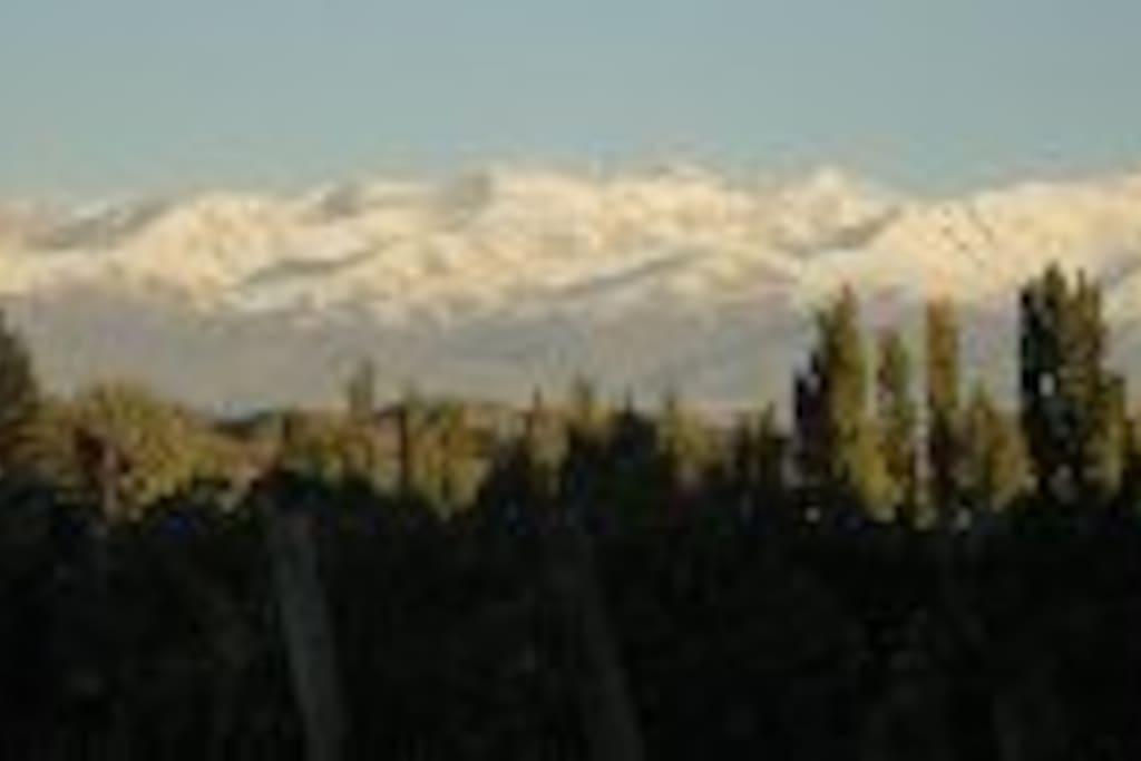 Vista a la montaña desde la casa