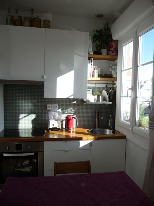 La cuisine, exposée plein sud