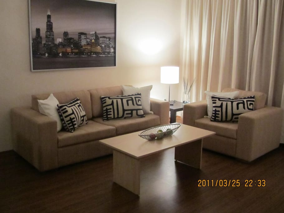 Comfy lounge with TV and pull out sofa bed