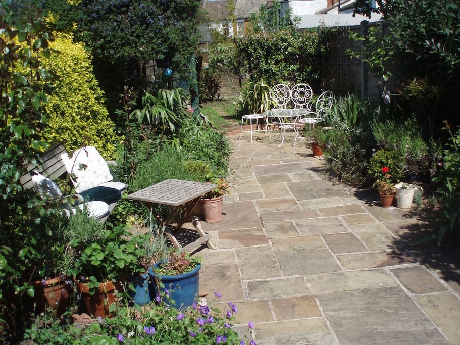 My pretty courtyard garden in springtime, guests are welcome to enjoy it