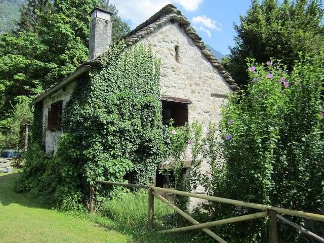 MOUNTAIN COTTAGE IN VAL DI BLENIO - Ludiano - Rumah