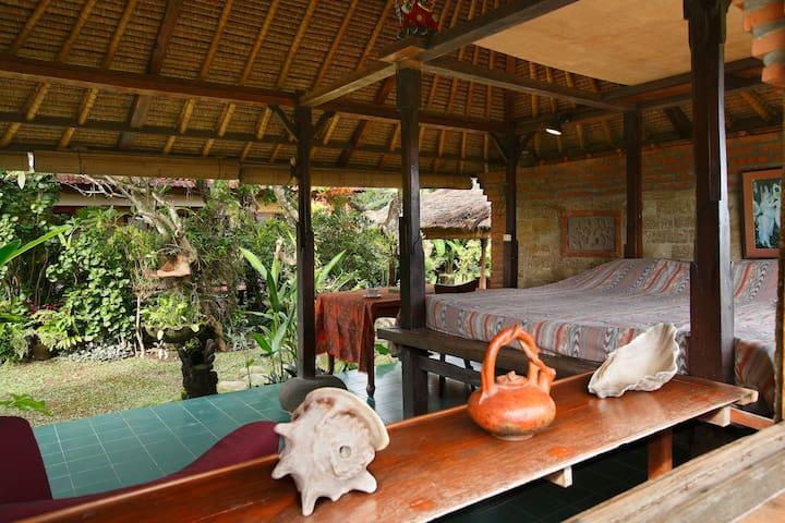 Open air Balinese garden pavilion