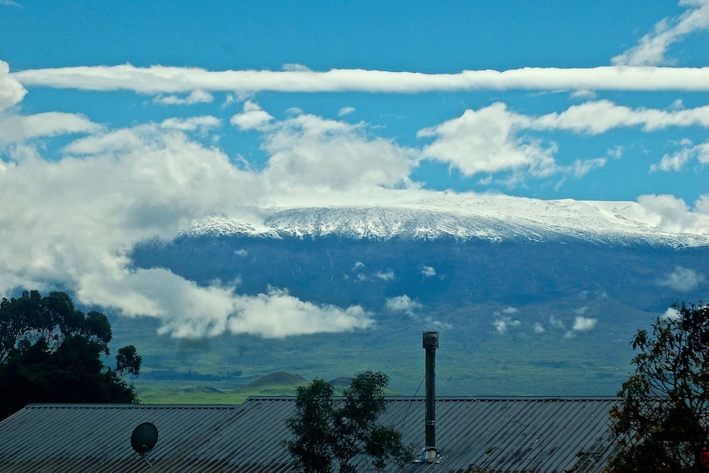 Snow on Mauna Kea From our front porch