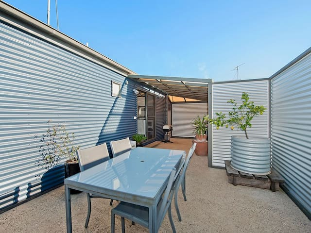 Private, outdoor area with BBQ