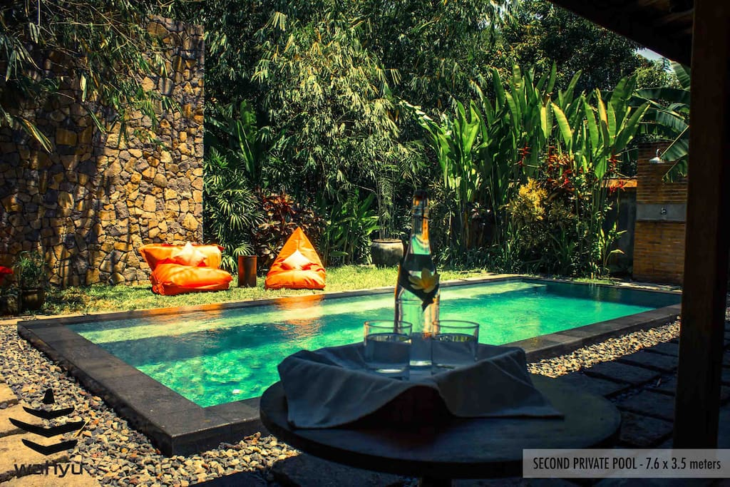 Relaxing by the pool at Wahyu Joglo Seminyak