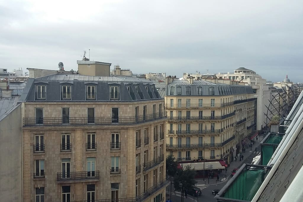 View from balcony / Vue du balcon