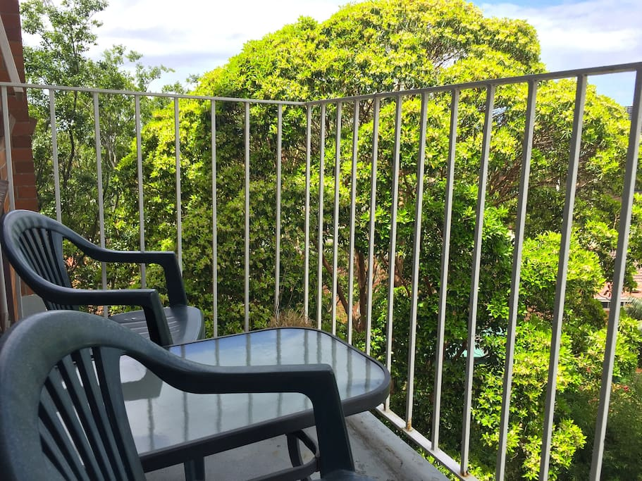 Private balcony looking over Rushcutters Bay