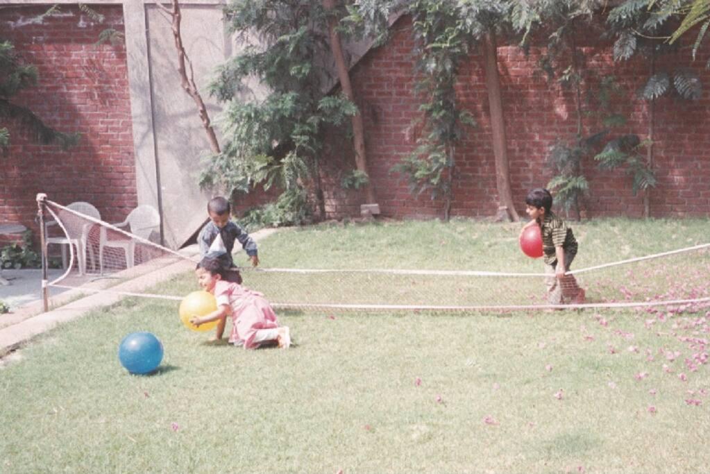 Lower Lawn cum Badminton Court
