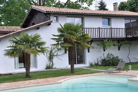 Maison avec grande piscine au calme - Le Barp - Haus