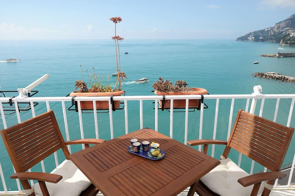 Terrace overlooking the sea
