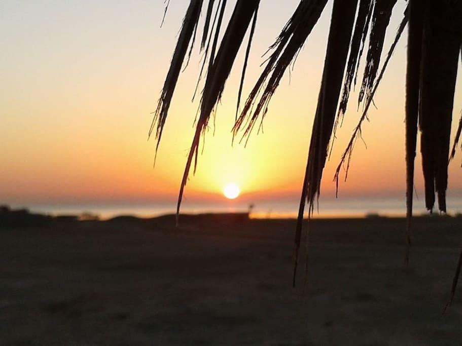 wonderful sunrise view above the bay