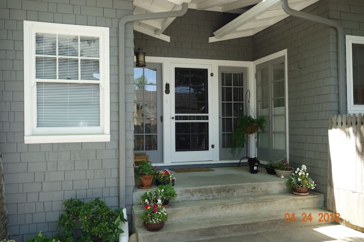 Side porch most common entry