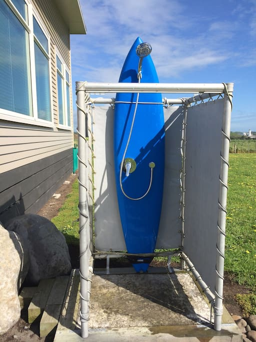 unique outdoor shower.