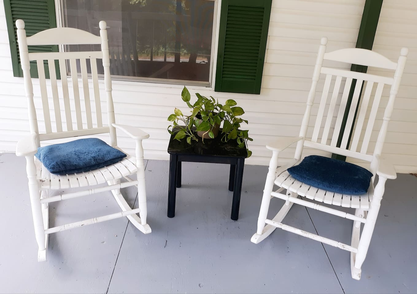 Sit and relax while watching the butterflies or humming birds feed on the butterfly bushes or roses.
