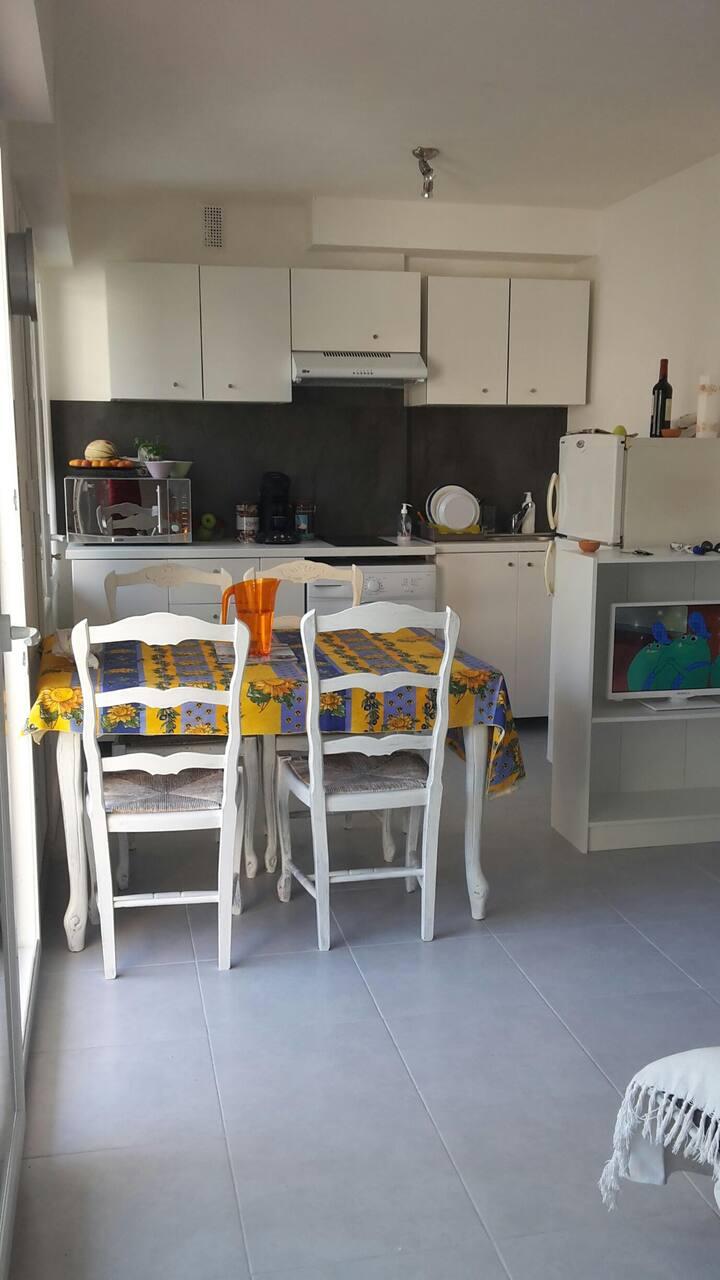Appartement F2 400 mètres de la Plage du Veillat
