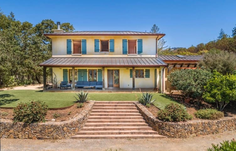 French Provincial Sonoma getaway vineyard included