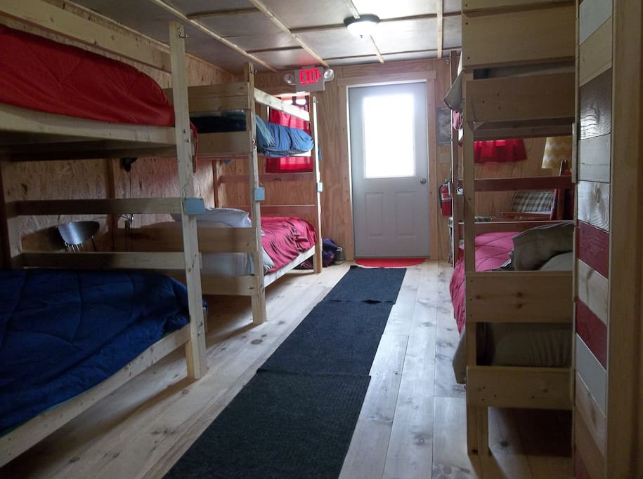 The main bunkroom sleeps up to 6 guests.
