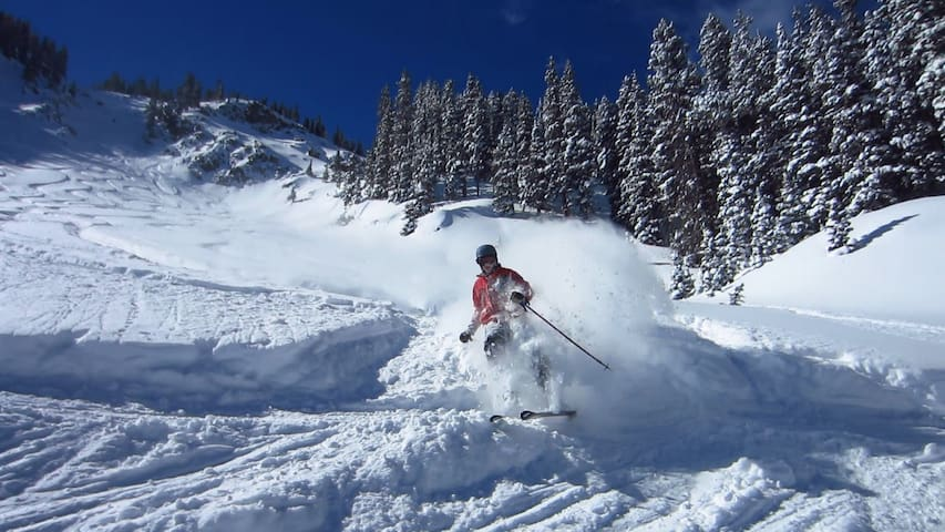 Heavenly Pines Retreat is only 15 minutes away from world class skiing at Grand Targhee.
